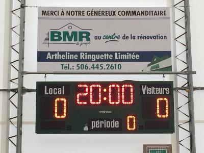 Tableau indicateur de hockey 4755 (8' x 3') - Municipalité de Ste-Anne-de-Madawaska, NB