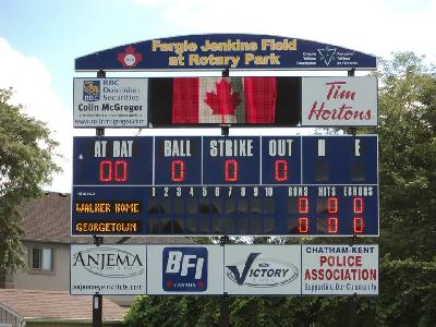 Video board 12' x 4' - 20mm - Couleur - Alberta